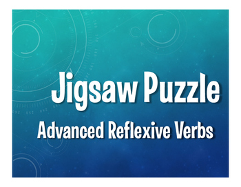 Spanish Advanced Reflexive Verb Jigsaw Puzzle