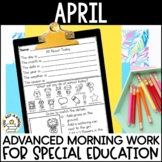 Advanced Special Education Morning Work: April Edition {3