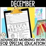 Advanced Special Education Morning Work: December Edition