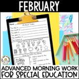 Advanced Special Education Morning Work: February Edition {3 Levels!}