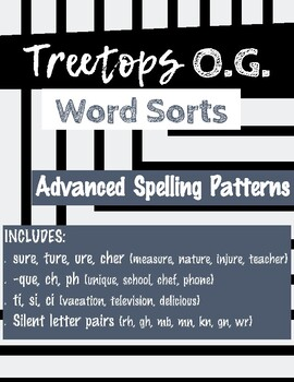Advanced Spelling Patterns Word Sorts