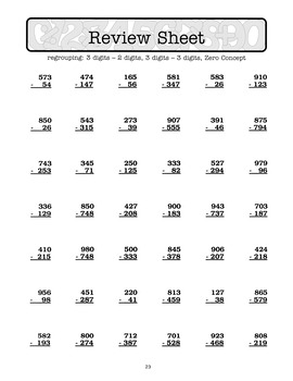 Advanced Subtraction Drills: Subtract 2-Digit to 6-Digit Numbers