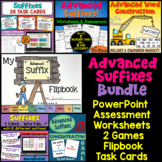 Advanced Suffixes Bundle of Activities: PowerPoint, Flipbook, Games, and more!
