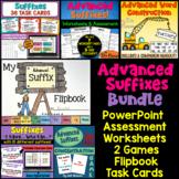 Advanced Suffixes Bundle of Activities: PowerPoint, Flipbo