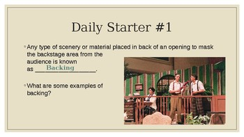 Advanced Theatre Daily Starters 2
