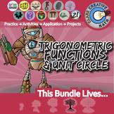 Trigonometric Functions & Unit Circle Unit Bundle - Distance Learning Compatible