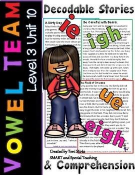 Advanced Vowel Teams Reading Passages & Comprehension Questions Level 3 Unit 10