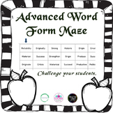 Advanced Word Form Maze