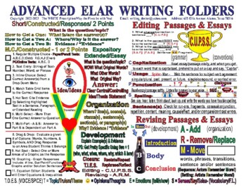 "Advanced Writing Folders English 11"" x 17""  (Comes in two sided sets of 25)"