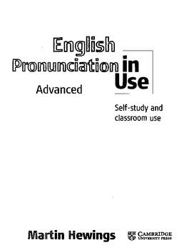 Advanced pronunciation