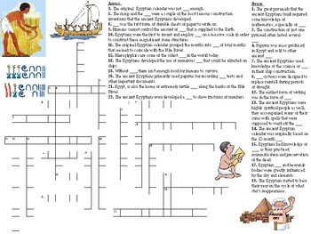 Advancements of Ancient Egypt Top Down Web and Crossword