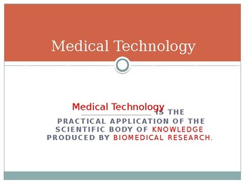 Advances in Medical Technology Power Point