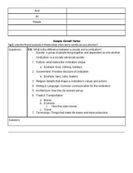 Advancing Cornell Notes- Focus on Abbreviations and Questions