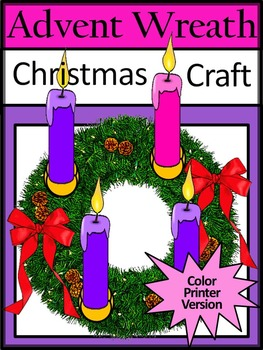 advent activities advent wreath christmas craft activity color version