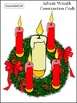 Advent Activities: Advent Wreath Christmas Craft Activity Packet