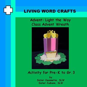 Advent 3D Light the Way Class Advent Wreath For PreK to Gr.3