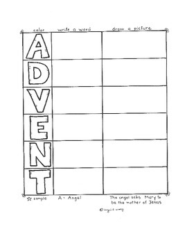 Advent Acrostic