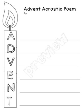 Advent Acrostic Poem for All Ages