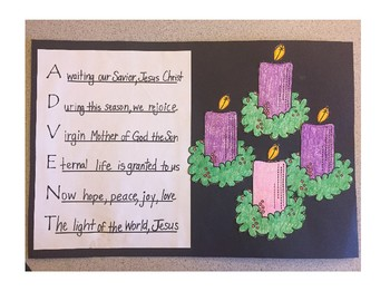 Advent Acrostic with Candles