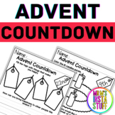 Advent Activity Countdown Worksheets - ALL GRADES for Christian Values