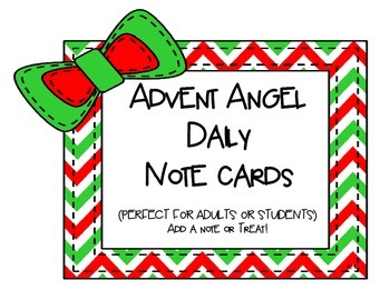 Advent Angel Card Freebie
