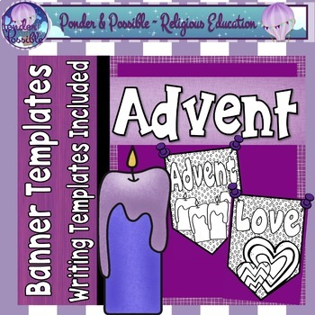 Advent Banners - Writing Templates Included ~ Bible Theme