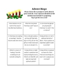 Advent Bingo Writing Prompts