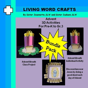 Advent Bundle: Class and Individual Wreath & Uncover Jesus Pre-K to Gr.3