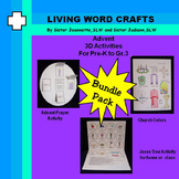 Advent Bundle Prayer Wreath, Church Colors, Jesse Tree for Pre-K to Gr.3