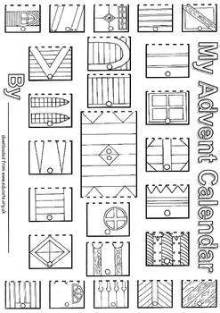 Advent Calendar Coloring
