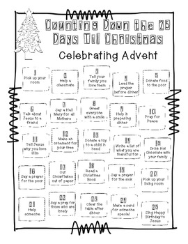 Advent Calendar FREEBIE