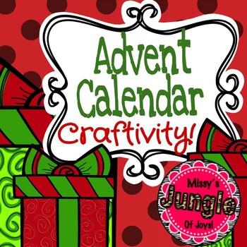 Advent Calendar Interactive Notebook Craftivity!