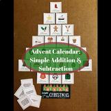 Christmas Countdown Advent Calendar - Simple Math Task (Ad