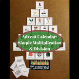 Christmas Countdown Advent Calendar: Simple Math Task (Multiplication/ Division)
