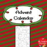 Advent Calendar Worksheet