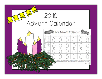 Advent Calendar & Wreath Clipart