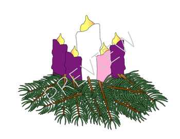 Advent Calendar & Wreath Clipart