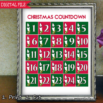 Advent Calendar and Christmas Countdown Paper Garland