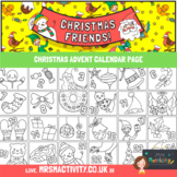 Advent Calender Coloring Page