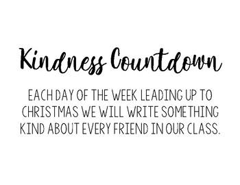 Advent/Christmas Kindness Countdown