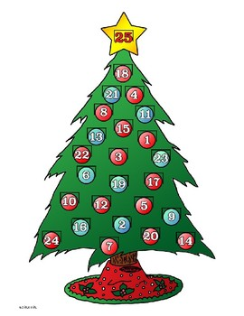 Advent Christmas Tree Craft!
