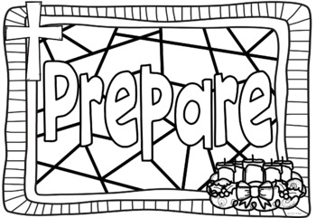 Advent Coloring Pages By Ponder And Possible Tpt Advent Coloring Page