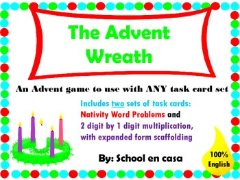 Advent Game with Two Sets of Task Cards {English}