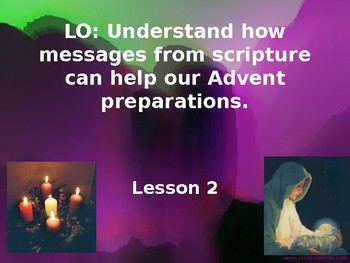 Advent Lessons Planning Catholic Religious Studies Powerpoints