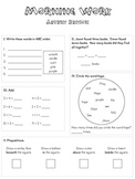 Advent Morning Work Packet