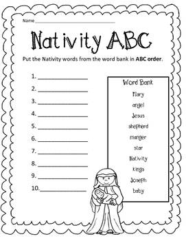 Advent, Nativity and Christmas ABC