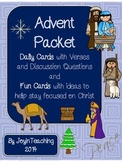 Advent Packet:  Daily Cards with Verses/Discussion Questio