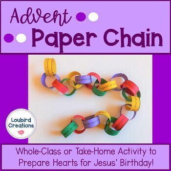 Advent Paper Chain Activity