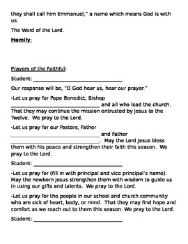 Advent Prayer Service For Your School Community