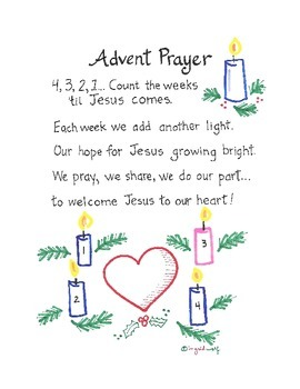 advent prayer with actions by ingrid 39 s art teachers pay. Black Bedroom Furniture Sets. Home Design Ideas